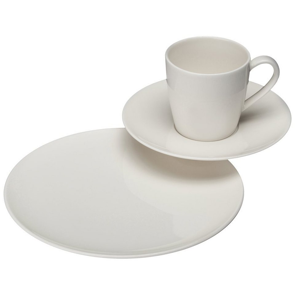 VIVO - VILLEROY & BOCH Kaffee Set 18tlg. »Voice Basic« in Weiss