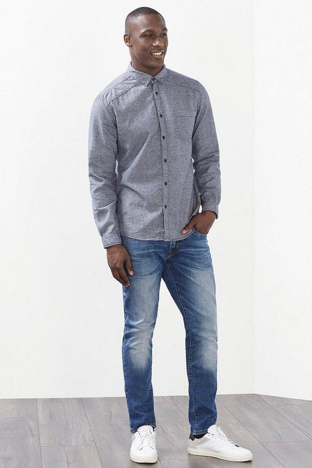 EDC Melange Hemd, 100% Baumwolle in NAVY