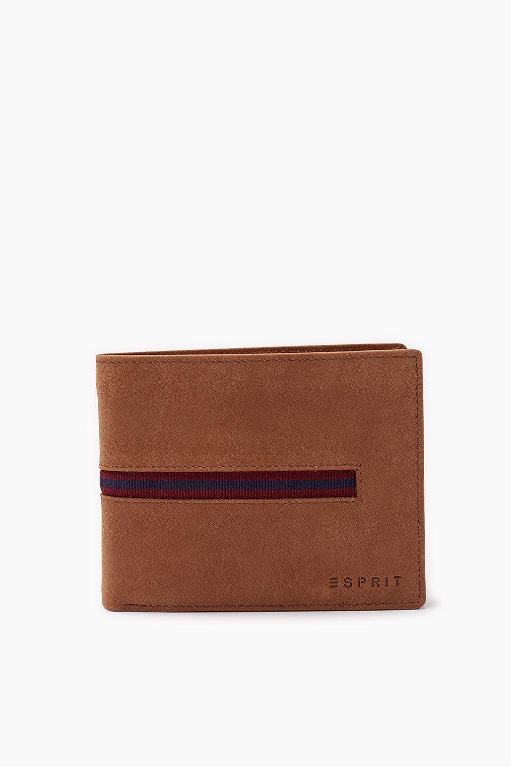 ESPRIT CASUAL Lederbörse mit Ripsband und Beutel