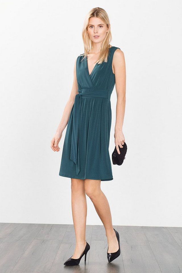 ESPRIT COLLECTION Fließendes Stretch-Kleid in BOTTLE GREEN