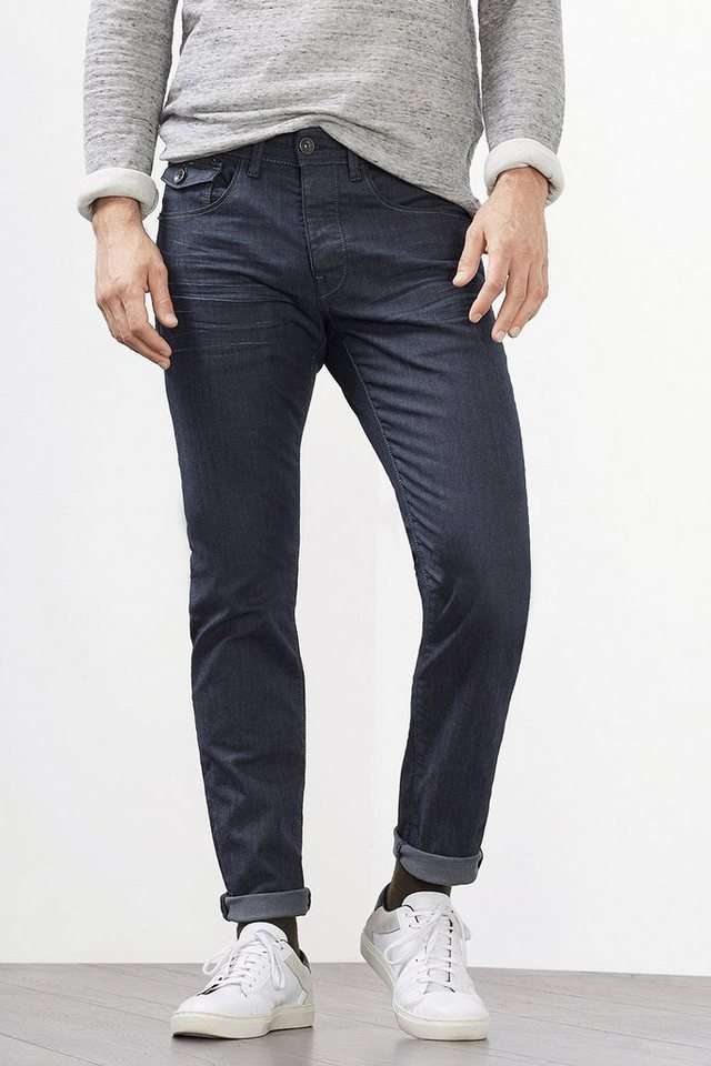 ESPRIT CASUAL 5-Pocket aus Stretch-Denim in BLUE DARK WASHED