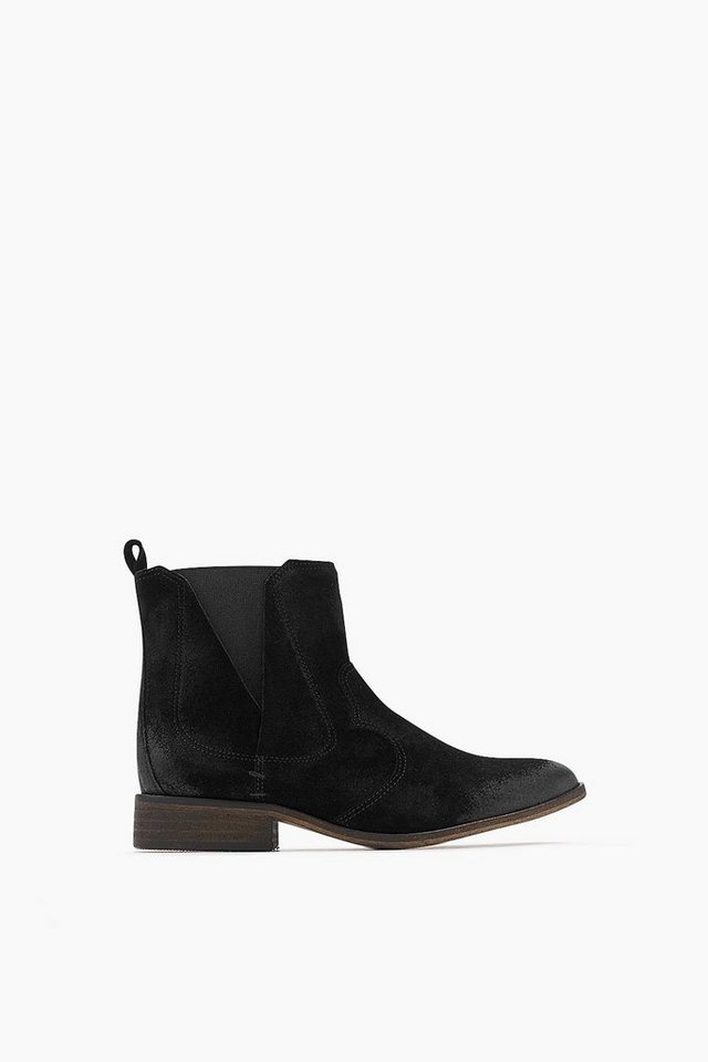 ESPRIT CASUAL Velours Fashion Bootie in BLACK