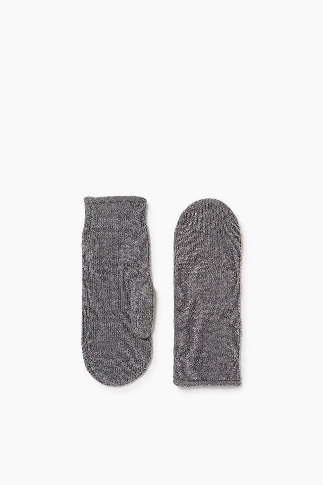 ESPRIT CASUAL Softe Handschuhe mit Kaschmir in ANTHRACITE