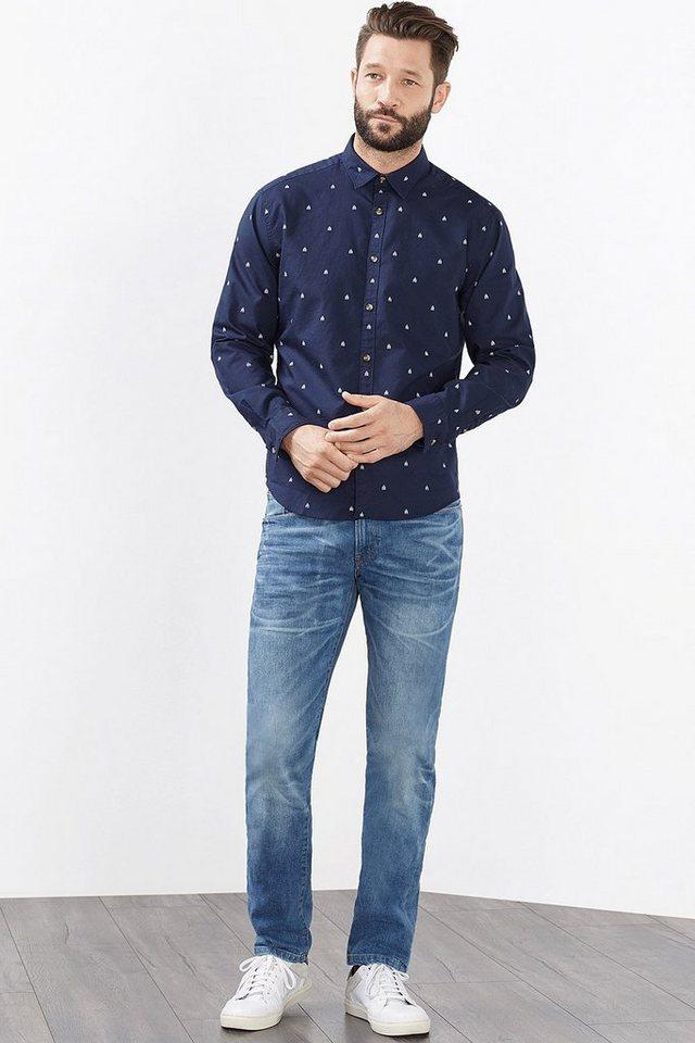 ESPRIT CASUAL Kerniges Print Hemd, 100% Baumwolle in NAVY