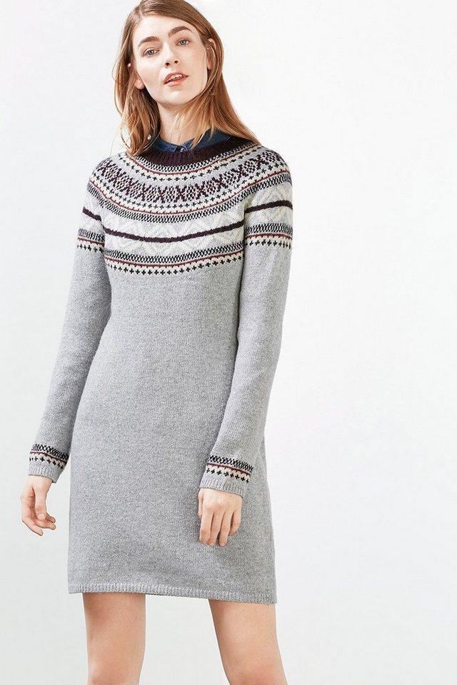EDC Jacquard Strickkleid mit Wolle