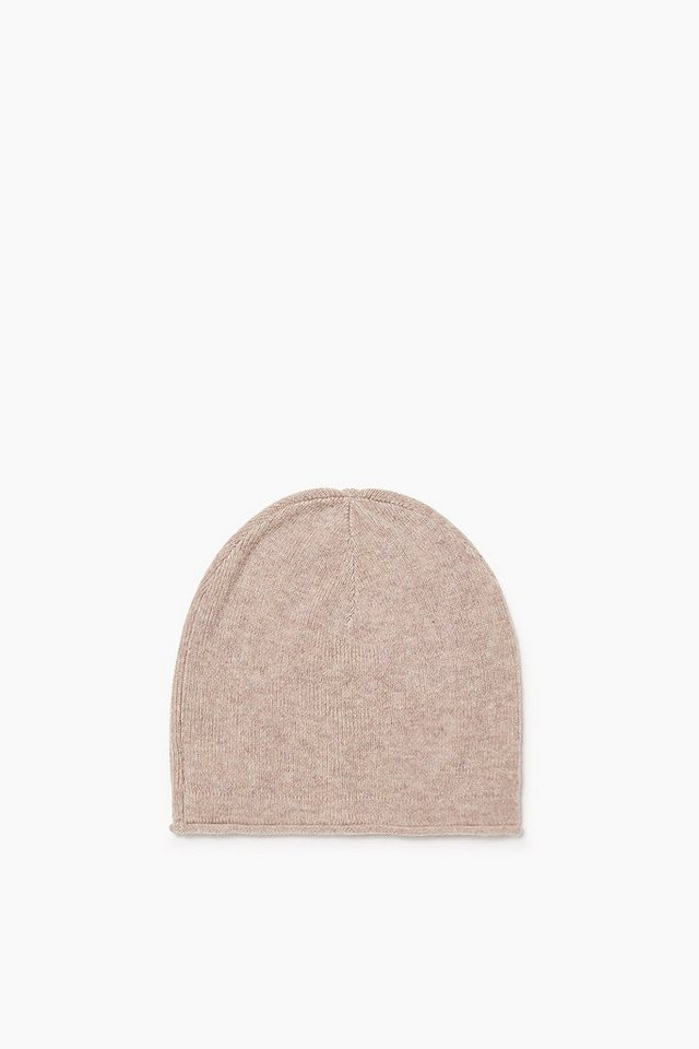 ESPRIT CASUAL Softer Basic Beanie mit Kaschmir in LIGHT TAUPE