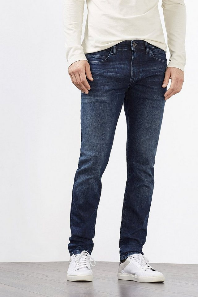 ESPRIT CASUAL Kernige 5-Pocket aus Stretch-Denim in BLUE DARK WASHED