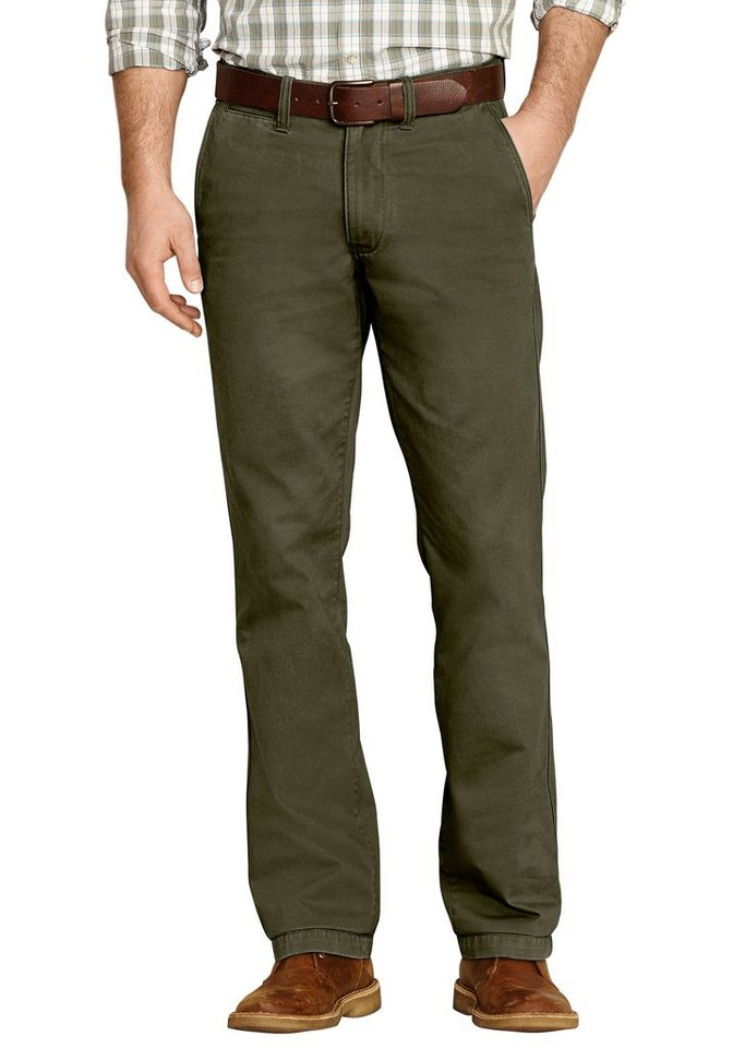 Eddie Bauer Slim Fit Chinohose in Oliv