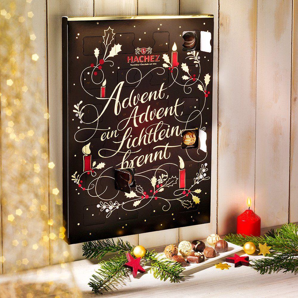 Hachez Adventskalender Weihnachtsgedicht von Hachez