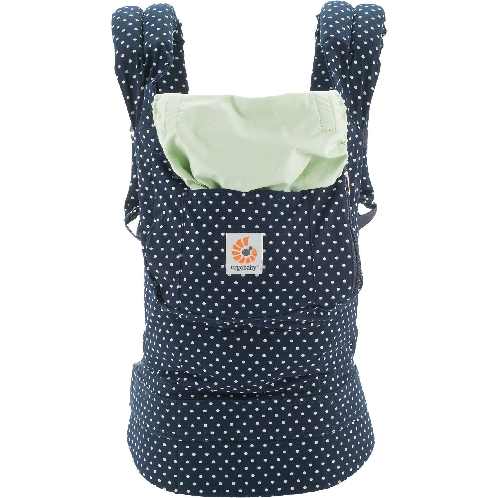 ERGObaby Babytrage Original, Indigo Mint Dots