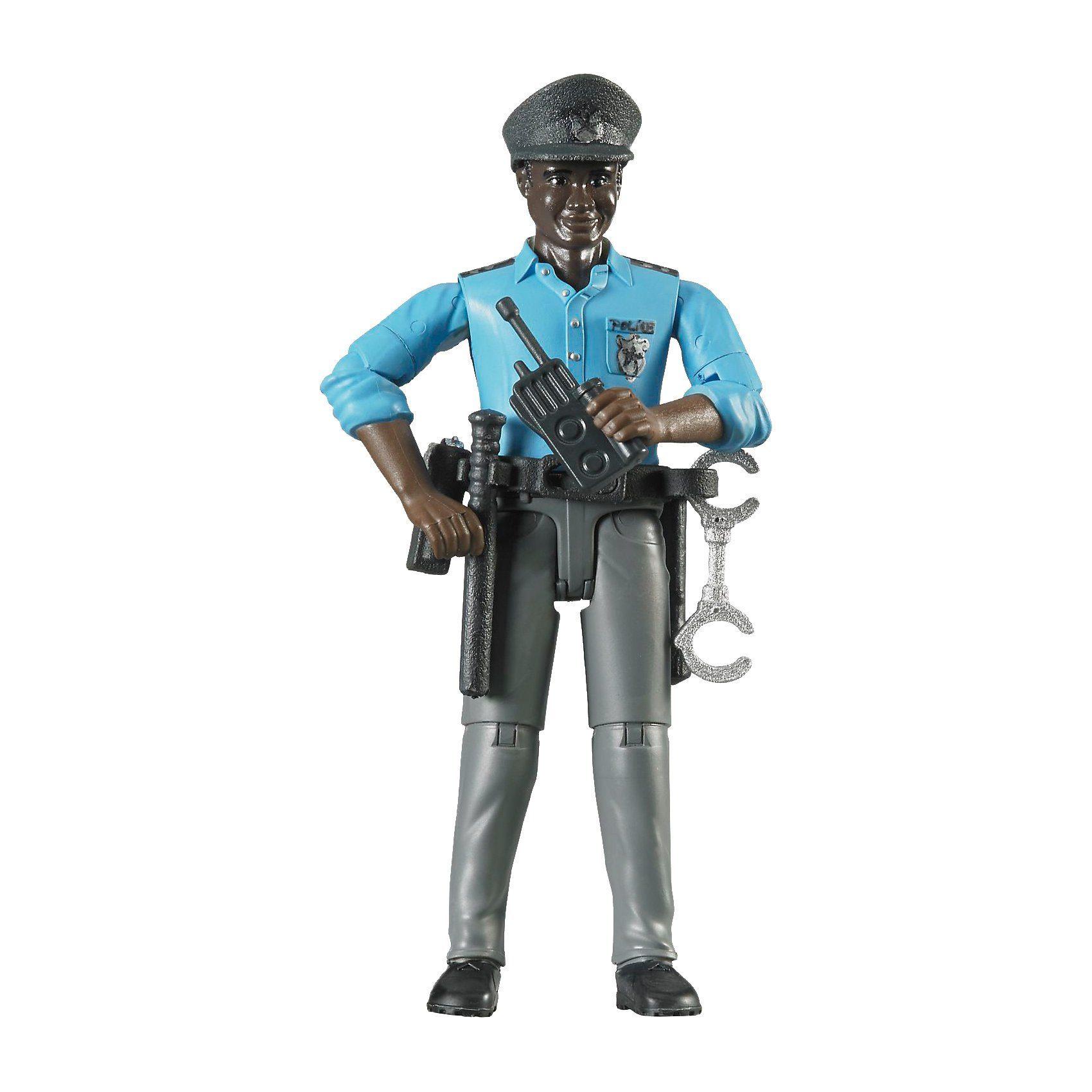 Bruder 60051 bworld Polizist dunkle Haut