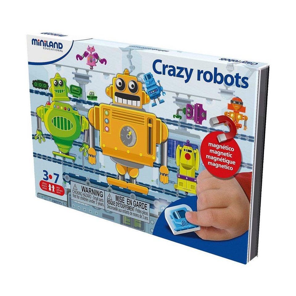 Miniland Magnetspiel Crazy Robots