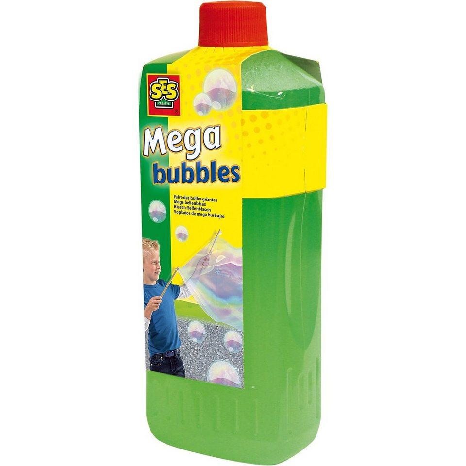 SES Creative 02256 Nachfüllset Mega bubbles Riesen-Seifenblasen, 750 ml
