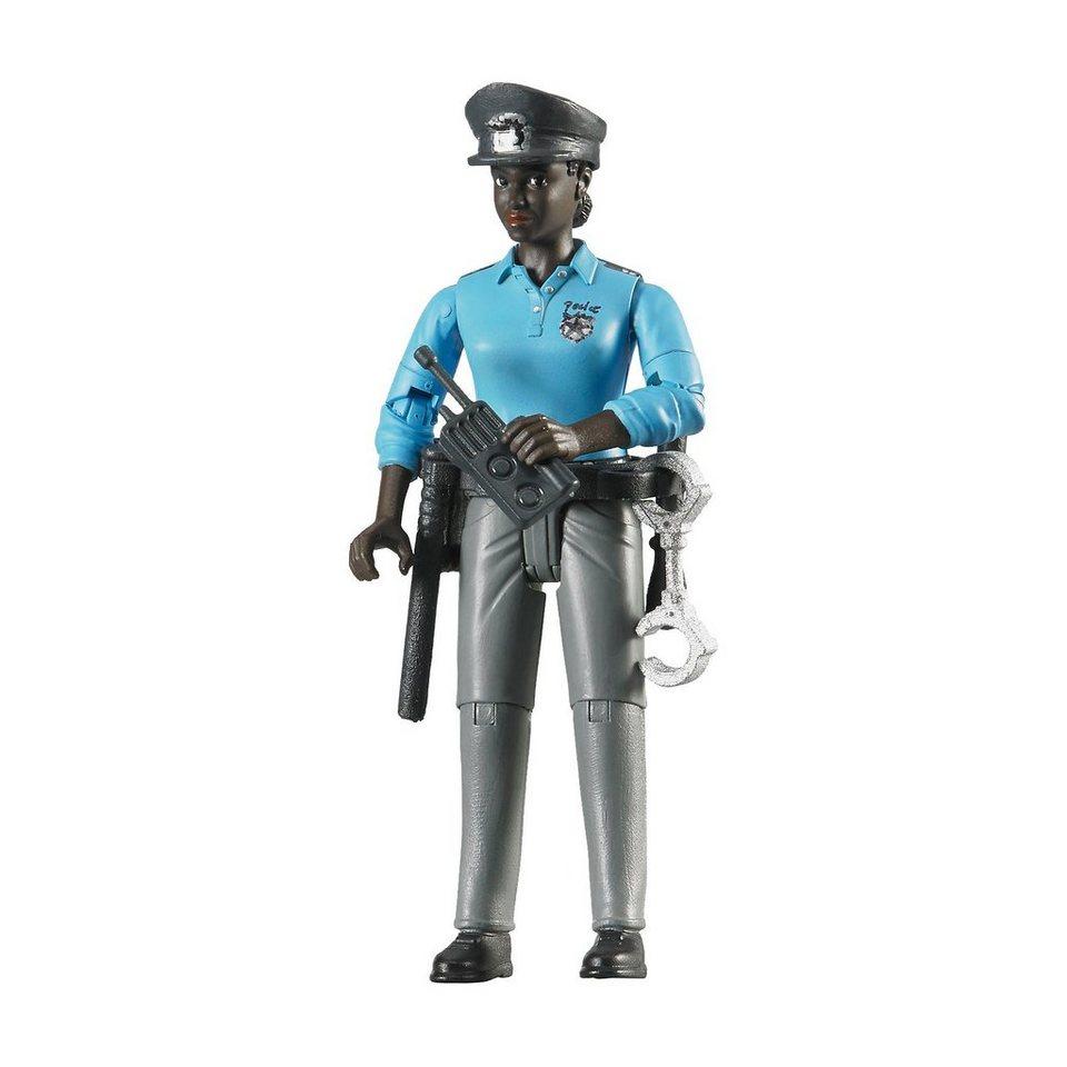 Bruder 60431 bworld Polizistin dunkle Haut