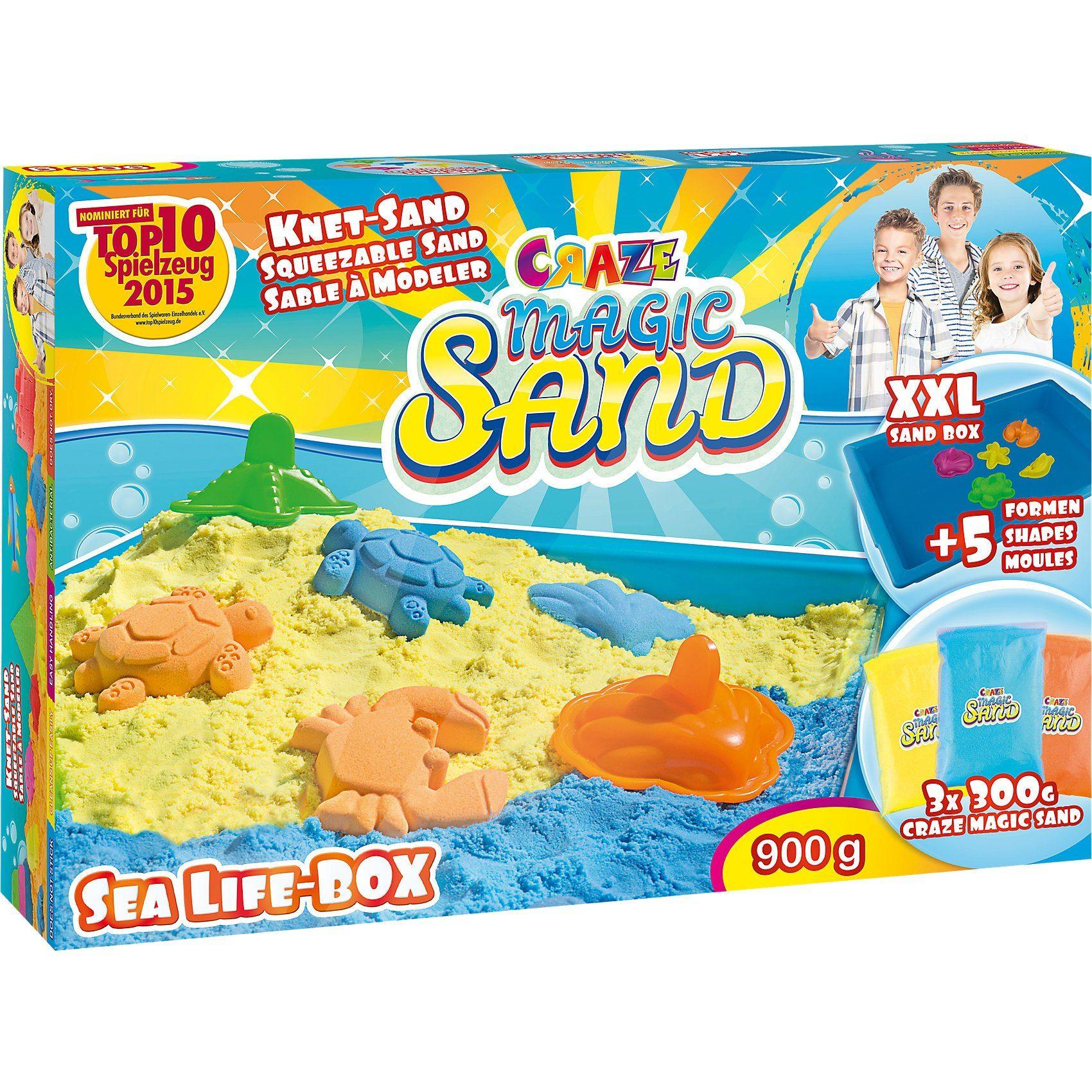 CRAZE Magic Sand - Sea Life Box