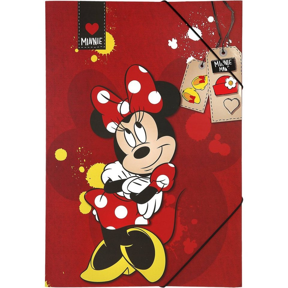 UNDERCOVER Gummizugmappe A3 Minnie Mouse