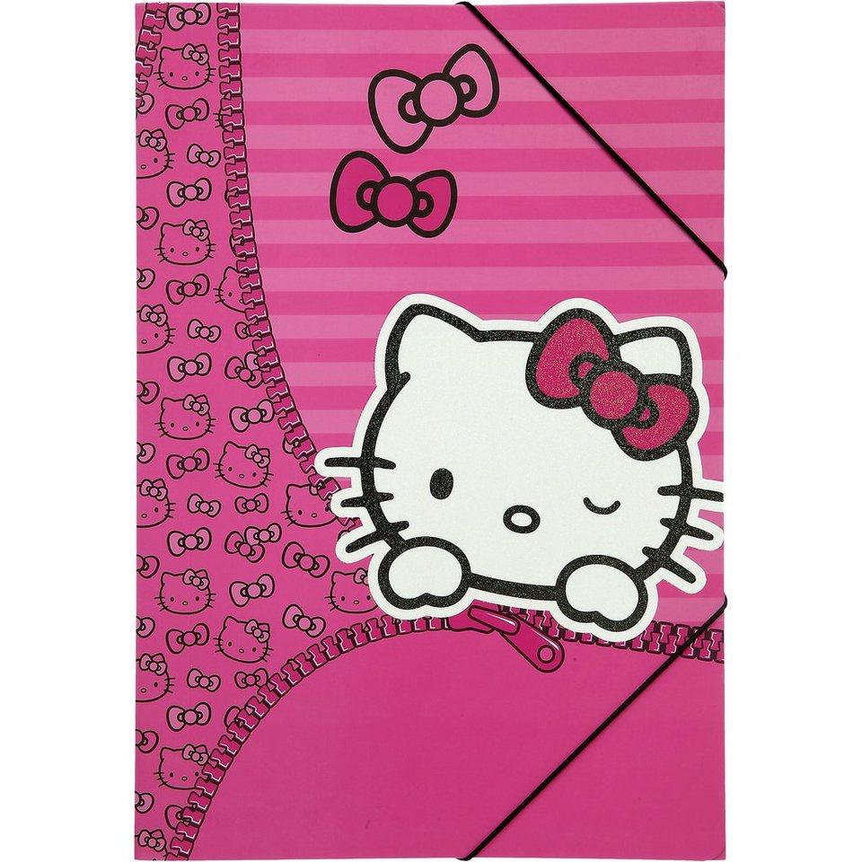 UNDERCOVER Gummizugmappe A3 Hello Kitty