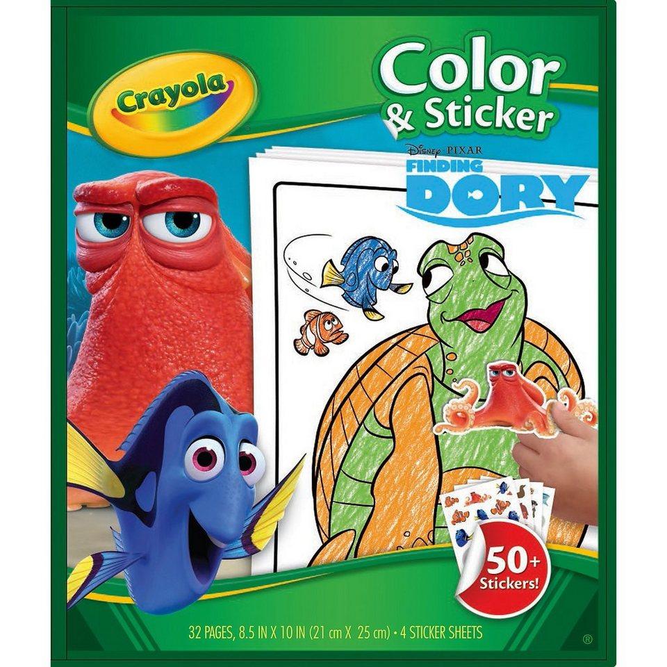 Crayola DISNEY FINDET DORIE Color & Stickerbook