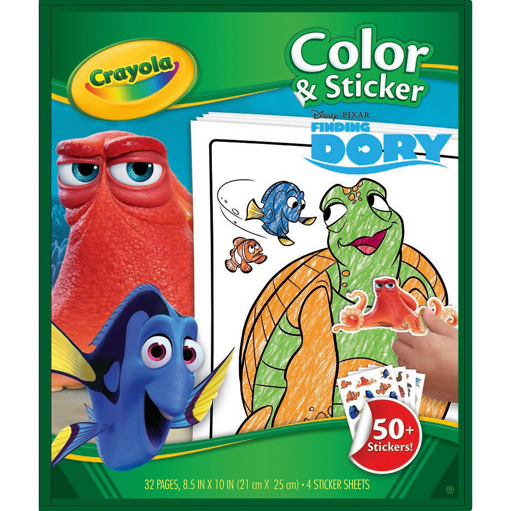Crayola DISNEY FINDET DORIE Color & Stickerbook