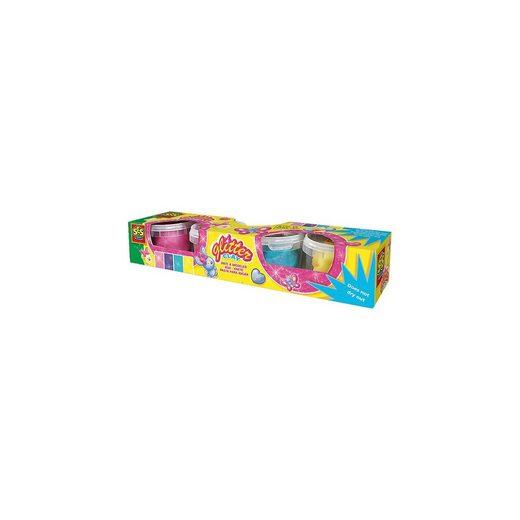 SES Creative Glitter-Knete, 4x 90 g
