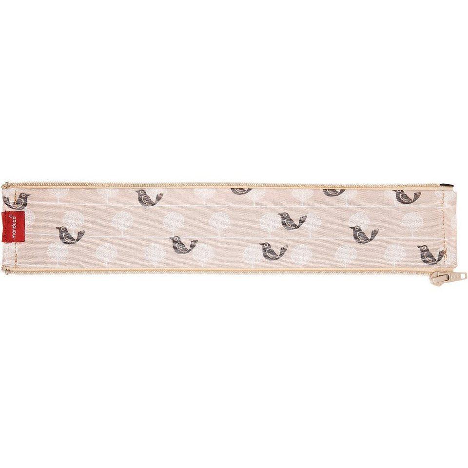 Manduca Reißverschlusseinsatz für Rückenverlängerung Zipln Birdie, L in braun