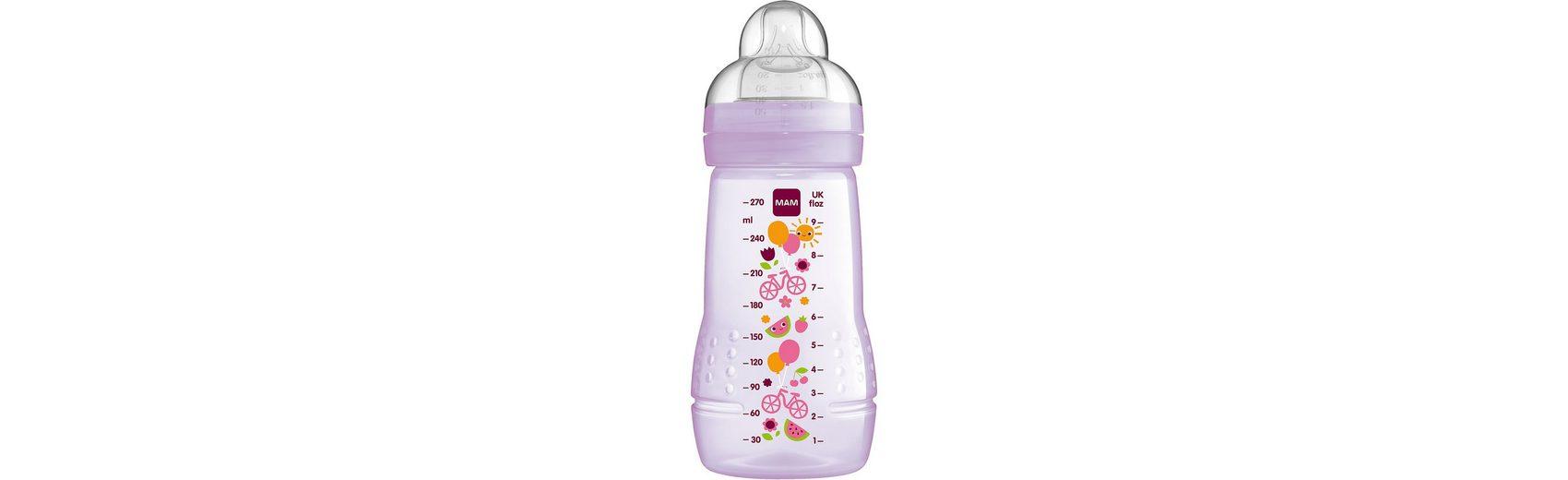MAM Weithals Flasche Easy Active Baby Bottle, PP, 270 ml, Siliko
