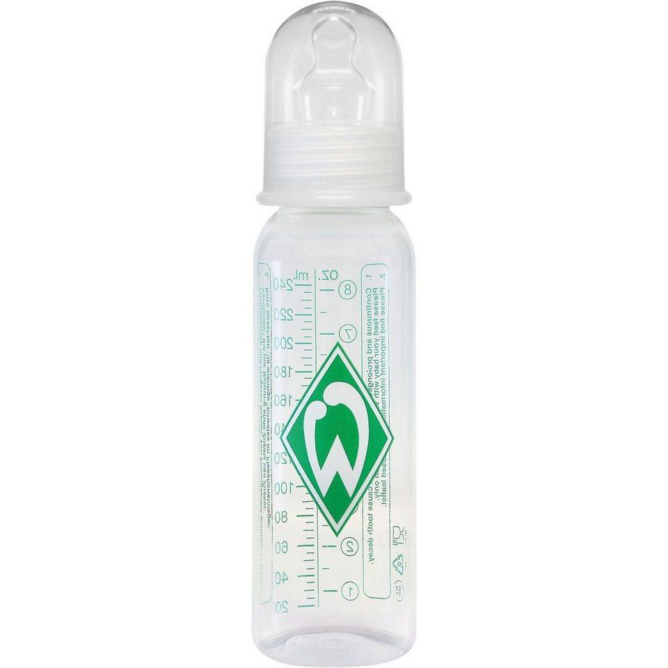 MAM Standard Flasche, PP, 250 ml, Silikonsauger, SV Werder Breme in transparent
