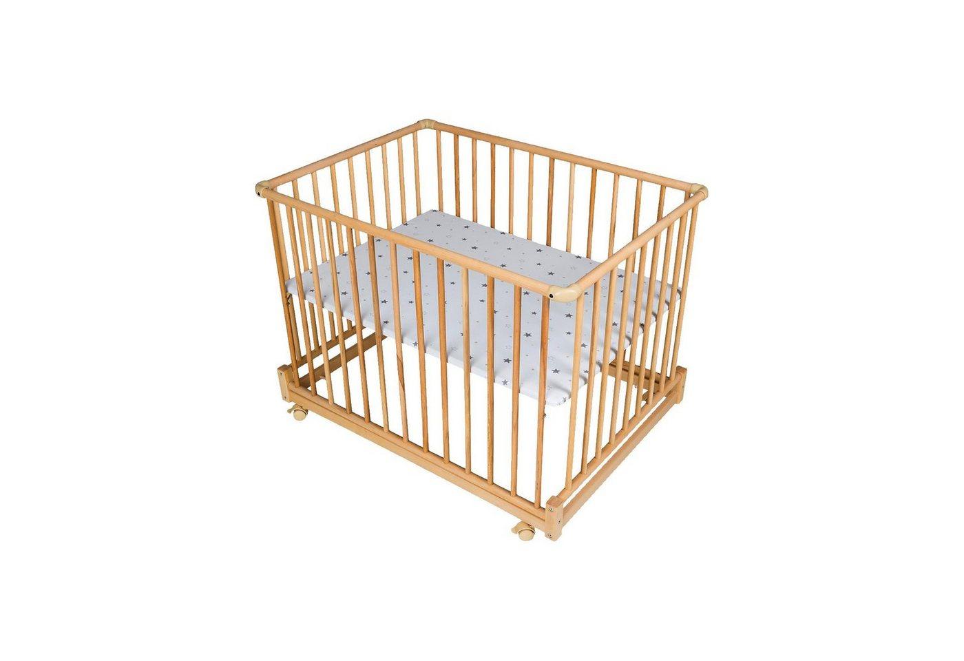 Schardt Laufgitter Komfort 75 x 100 cm, Buche massiv geölt, Motiv St | Kinderzimmer > Babymöbel > Lauf- & Schutzgitter | Braun | Schardt