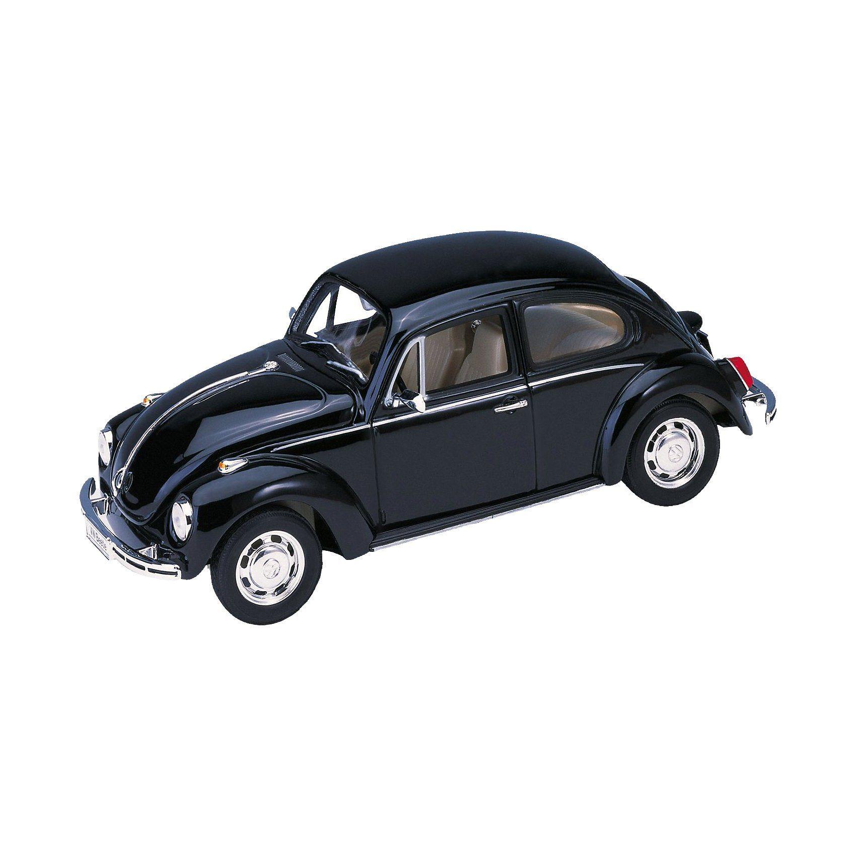 Welly Volkswagen Beetle 1:24 schwarz, Hard-Top