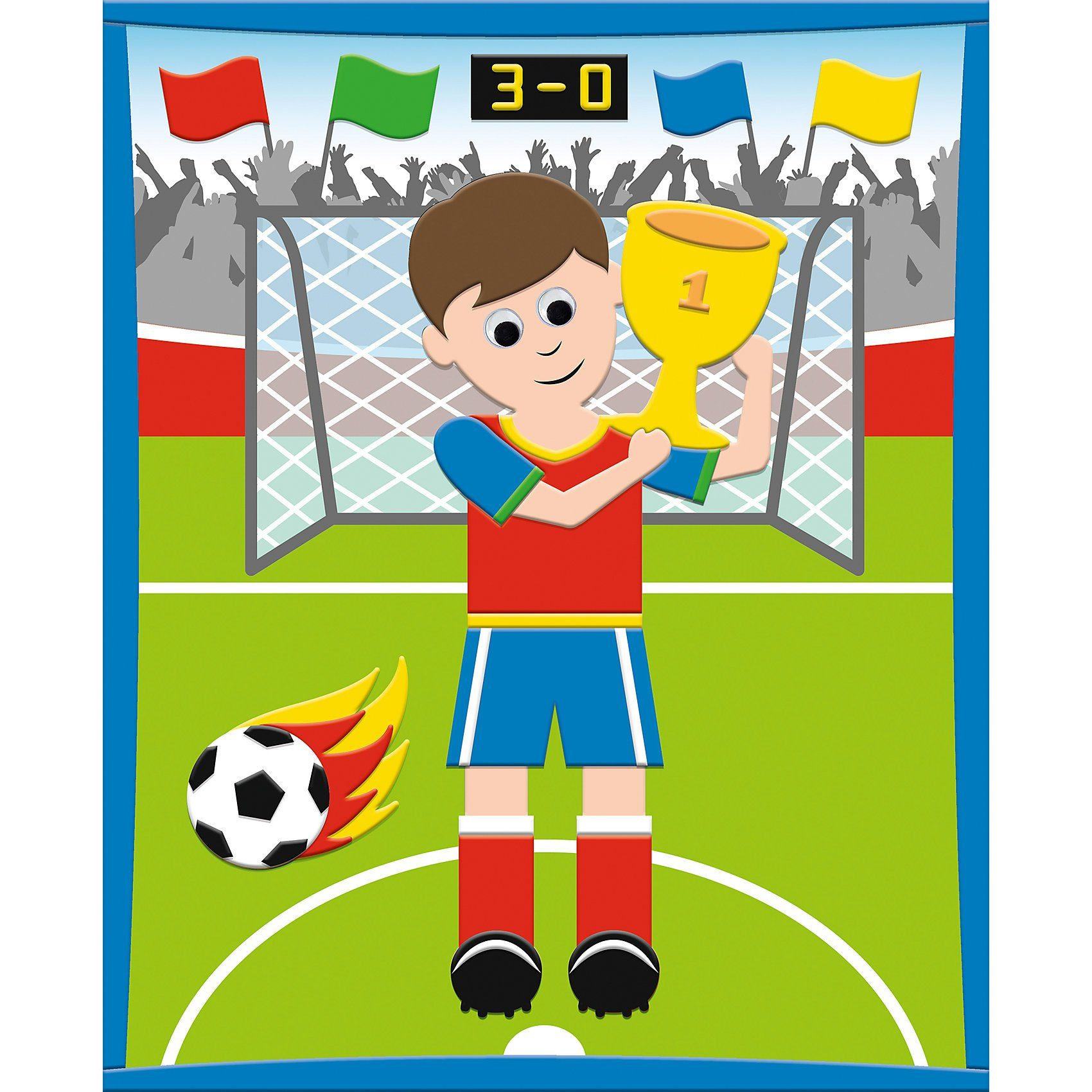 URSUS 3D Moosgummi-Bild Fußballer