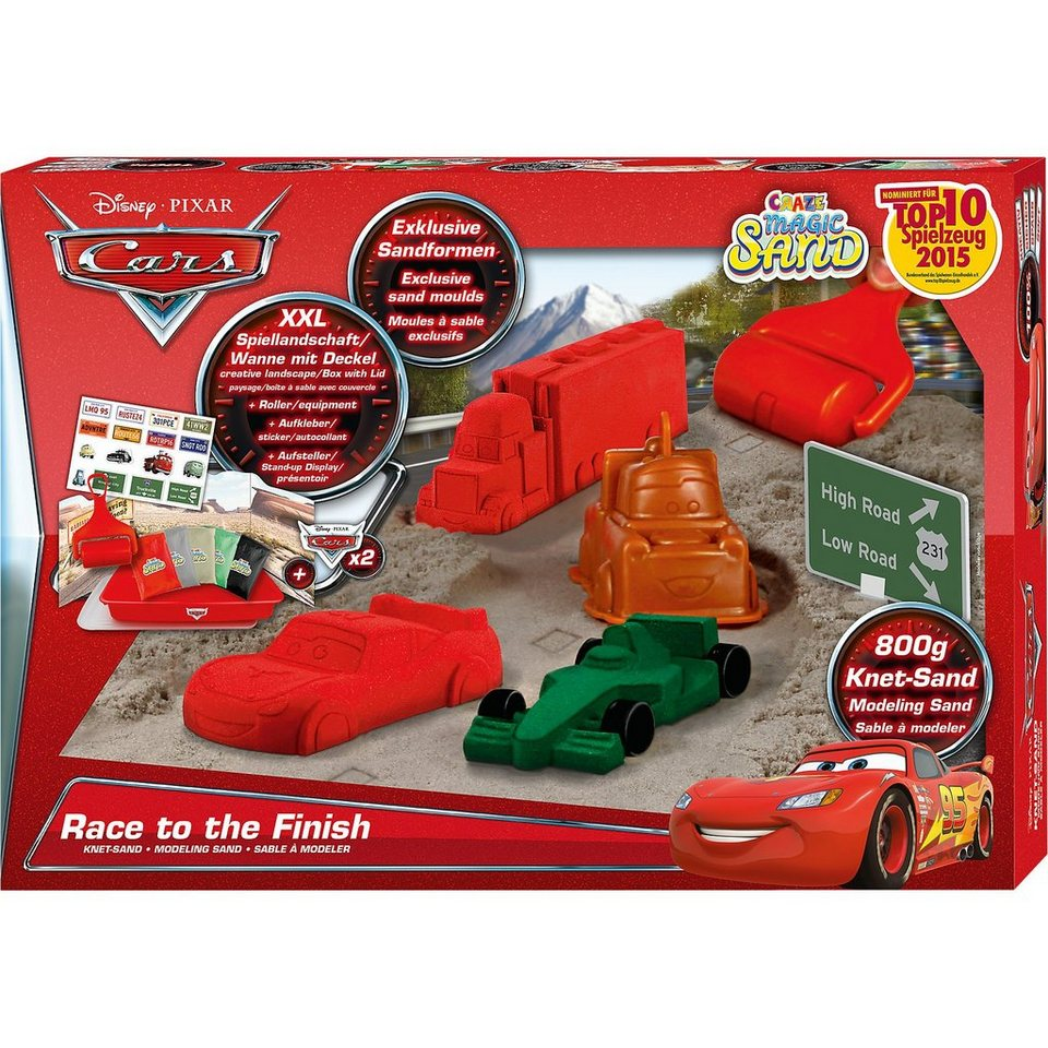 CRAZE Magic Sand Box Cars - Race to the Finish