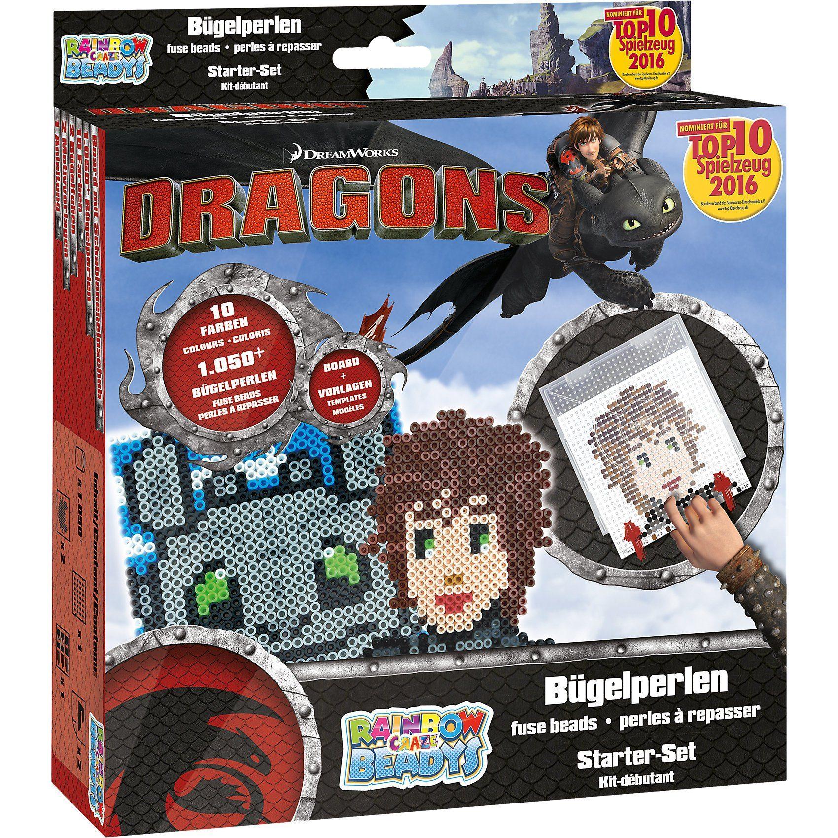 CRAZE Bügelperlen Starter-Set Dragons