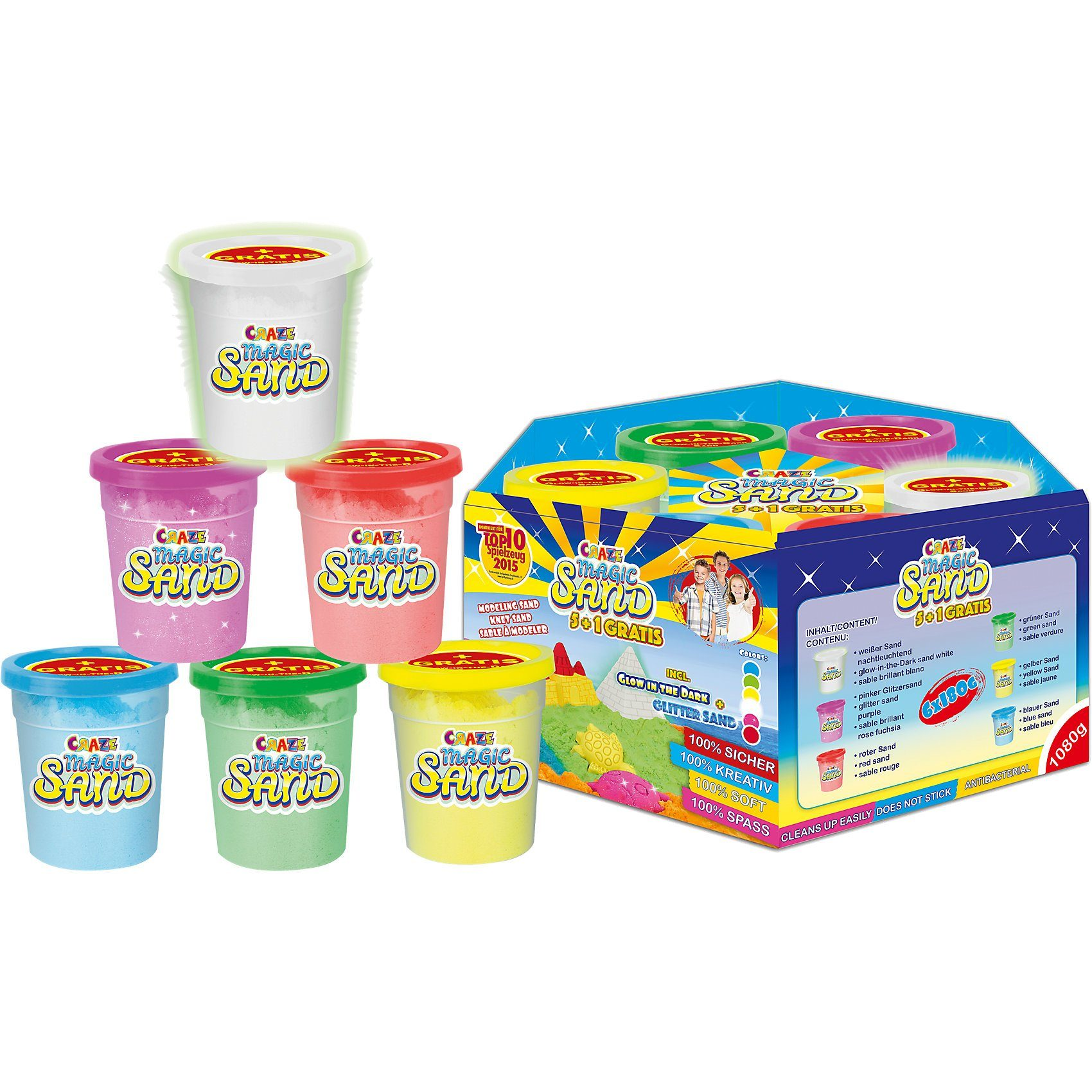 CRAZE Magic Sand - 5+1 Multipack
