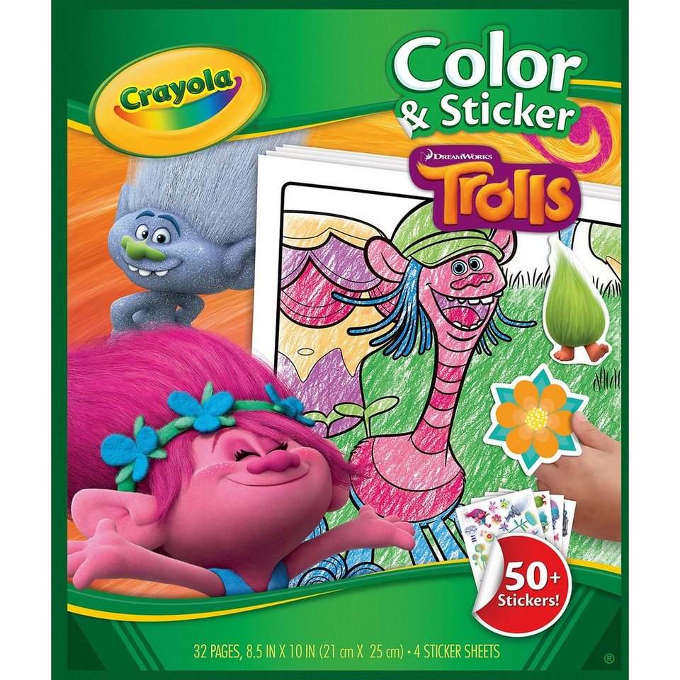 Crayola Trolls - Color & Stickerbook