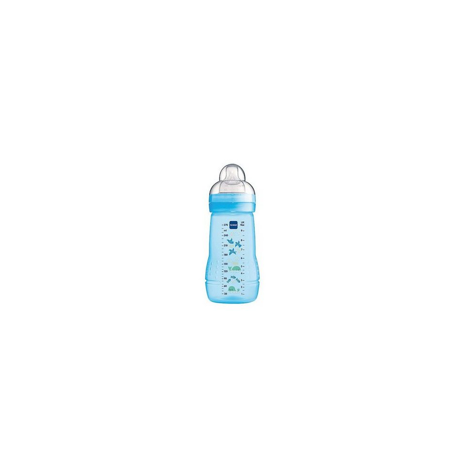 MAM Weithals Flasche Easy Active Baby Bottle, PP, 270 ml, Siliko in blau