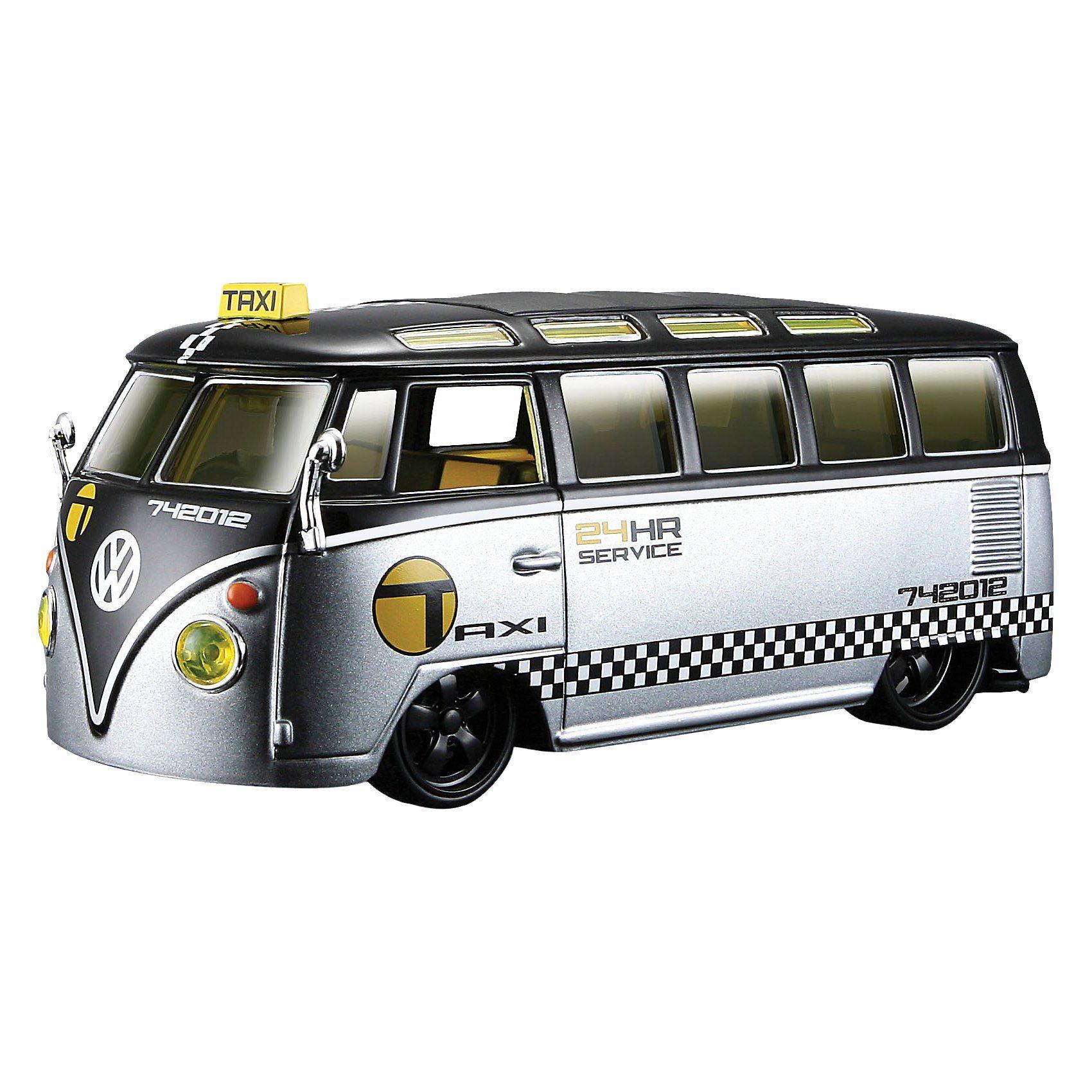 "Maisto Modellfahrzeug AllStars VW Samba ""Taxi"" 1:25"