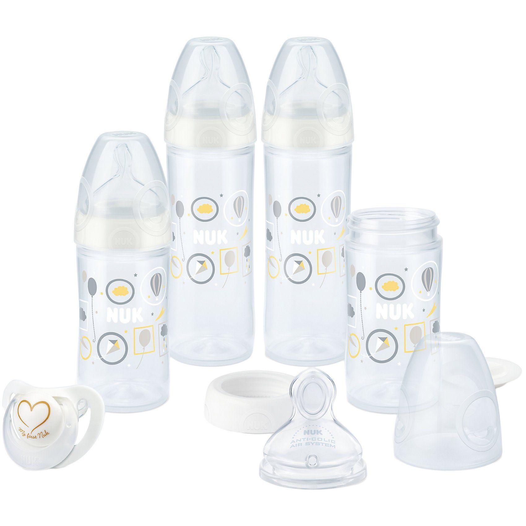 NUK Standard Flaschen Starterset New Classic, PP, Silikonsauger,