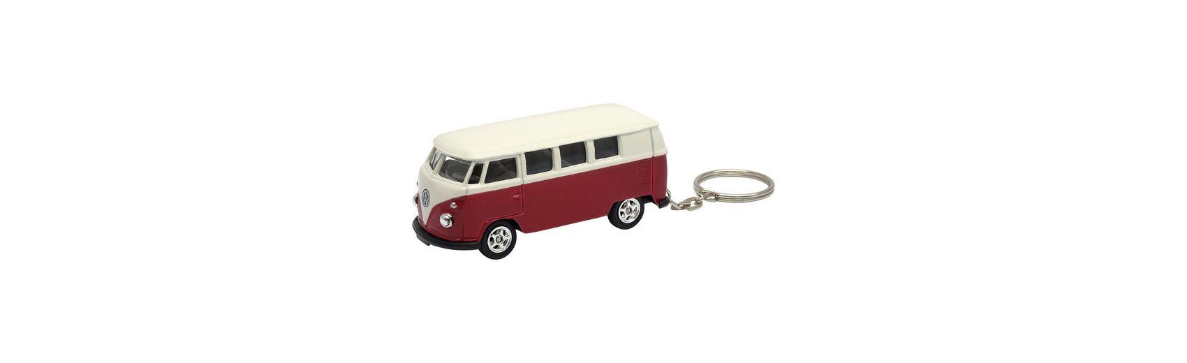 Welly Schlüsselanhänger Bulli VW T1 rot/weiß