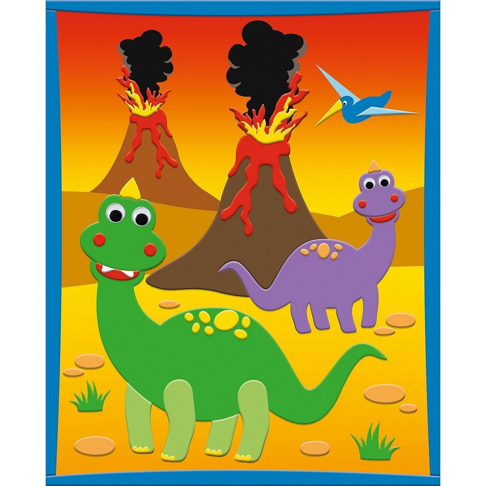 URSUS 3D Moosgummi-Bild Dinosaurier