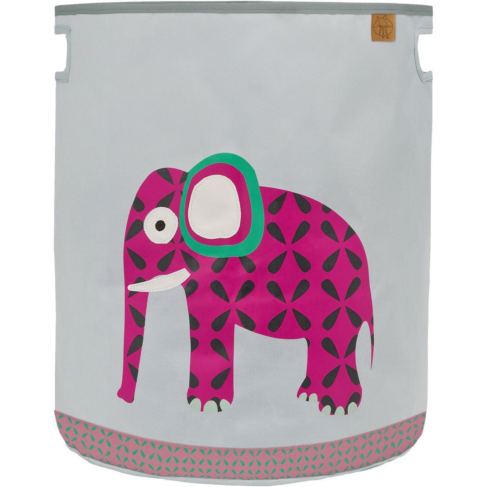 Lässig Aufbewahrungskorb für Spielzeug, 4Kids, Wildlife Elephant