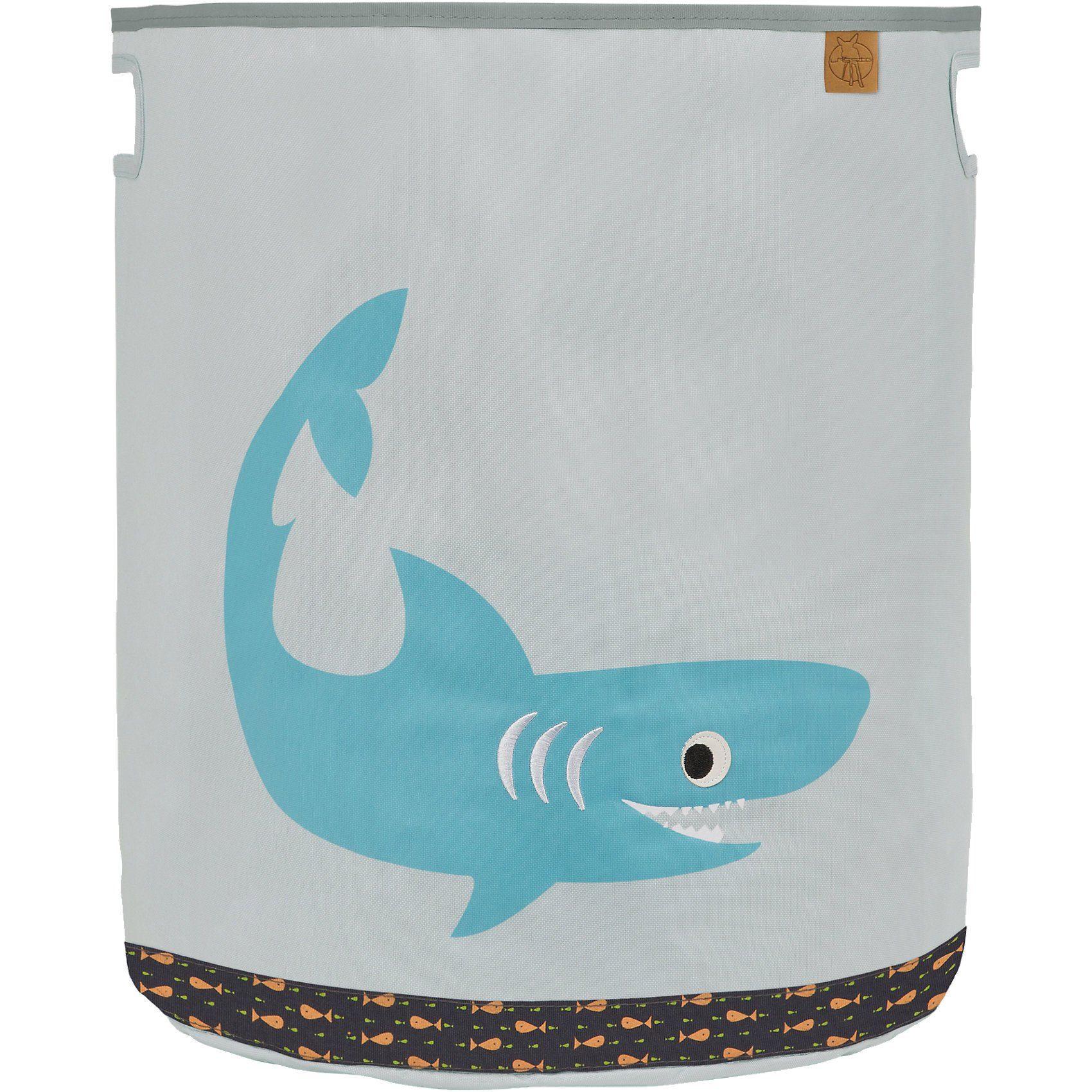 Lässig Aufbewahrungskorb für Spielzeug, 4Kids, Shark ocean