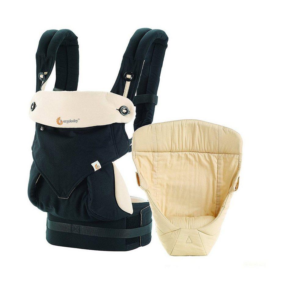 ERGObaby Von-Geburt-an-Paket Babytrage Original, Black/Camel, inkl. N in schwarz/beige