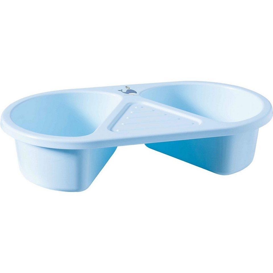 bébé-jou Waschschüssel Wally Whale, blau in blau