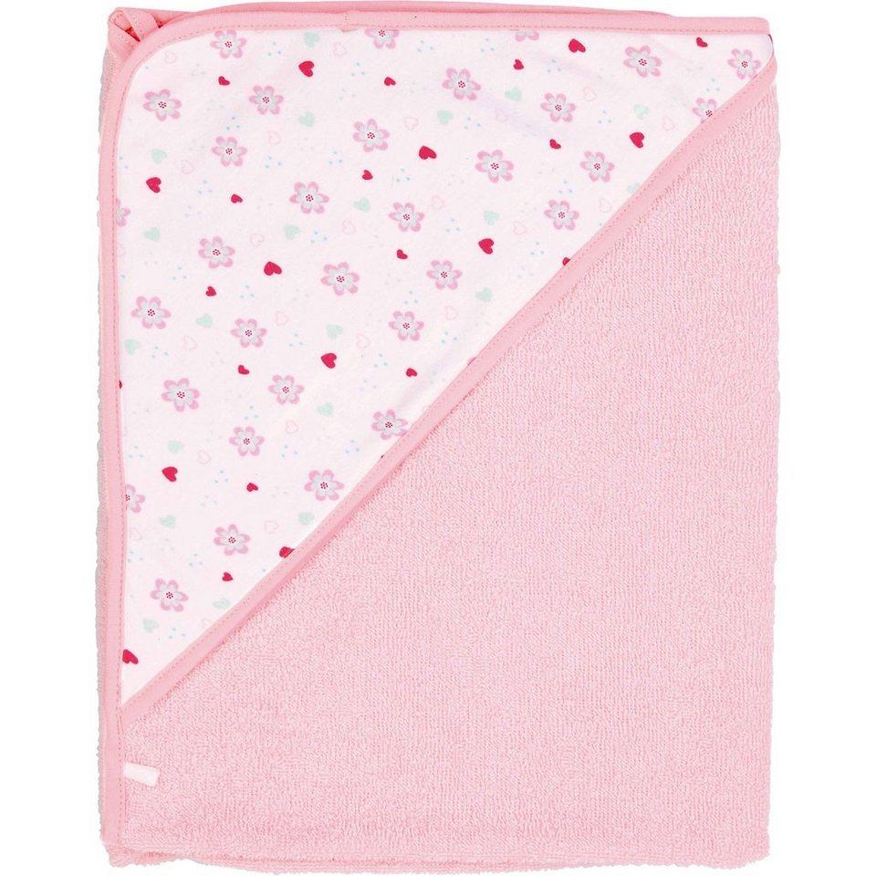 bébé-jou Kapuzenbadetuch Sweet Birds, rosa, 75 x 85 cm in rosa