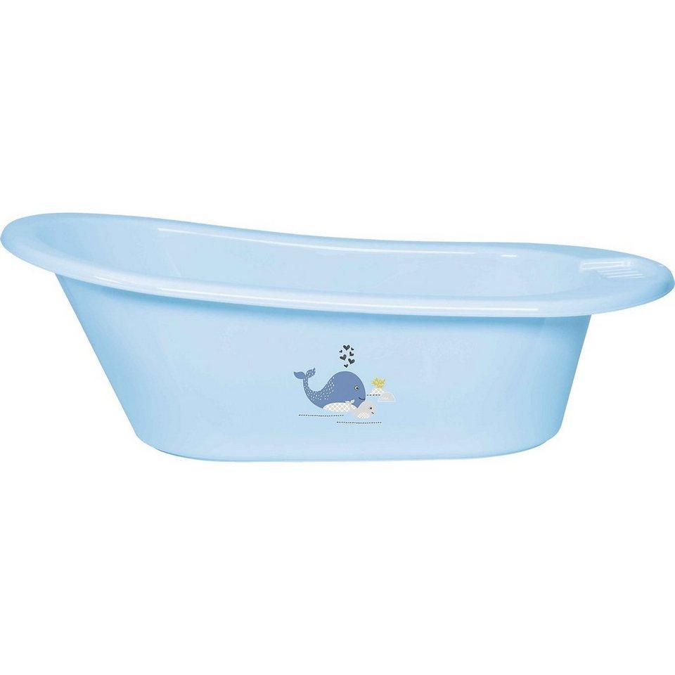 bébé-jou Badewanne CLICK Wally Whale, blau in blau