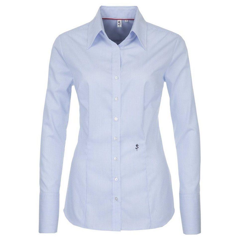 Seidensticker Klassische Bluse in blau-weiß-gestreift