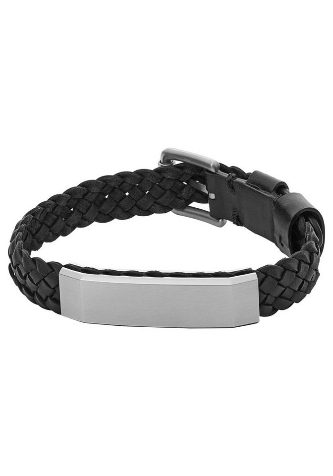 Fossil Armband »JF02470040, VINTAGE CASUAL« in schwarz-silberfarben