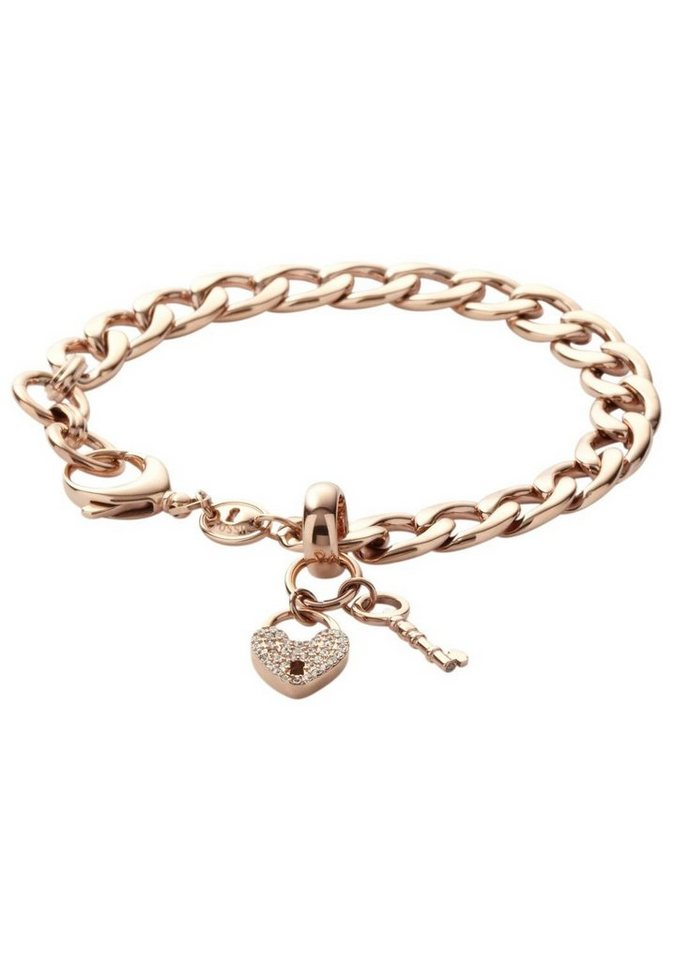 Charms-Armband, Fossil, »JF00144791« in goldfarben