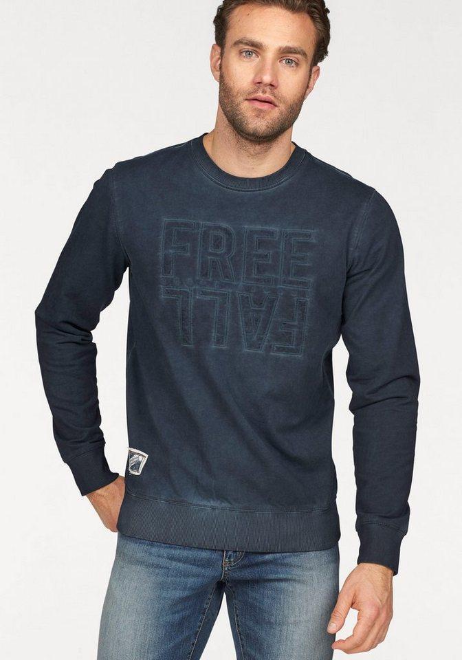Rhode Island Sweatshirt in oil-washed Optik in marine-washed