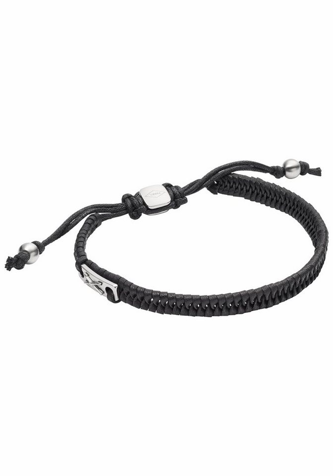 Fossil Armband »JF02466040, VINTAGE CASUAL« in schwarz-silberfarben